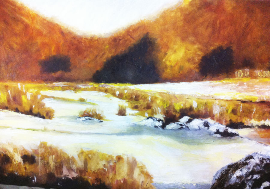 landscape , 36 x 28 inch, sunil prasad,landscape paintings,paintings for living room,canvas,oil paint,36x28inch,GAL010242551