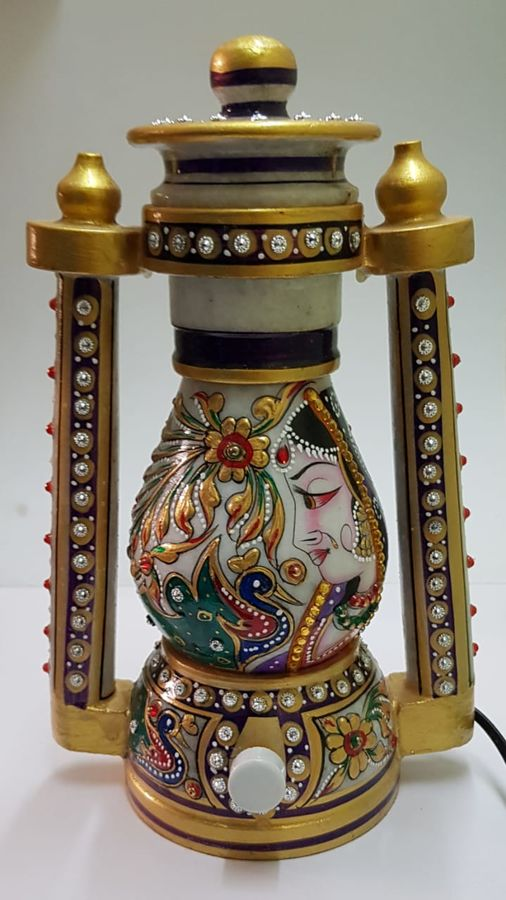 neha art gallery handcrafted madhubani marble laltin(10 inch), 10 x 10 inch, neha  gangal,10x10inch,paper,wall hangings,vases,candles,marble,GAL01408625513