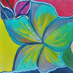 hibiscus blooming flower, 16 x 20 inch, sheetal dsilva,16x20inch,canvas,abstract paintings,flower paintings,paintings for living room,paintings for office,paintings for hotel,paintings for kitchen,paintings for living room,paintings for office,paintings for hotel,paintings for kitchen,acrylic color,GAL0402925515