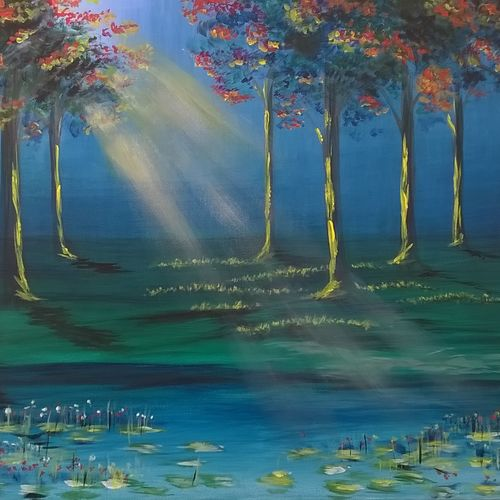 hope, 36 x 24 inch, sayantan  ghati ,flower paintings,paintings for office,canvas,acrylic color,36x24inch,GAL07702552