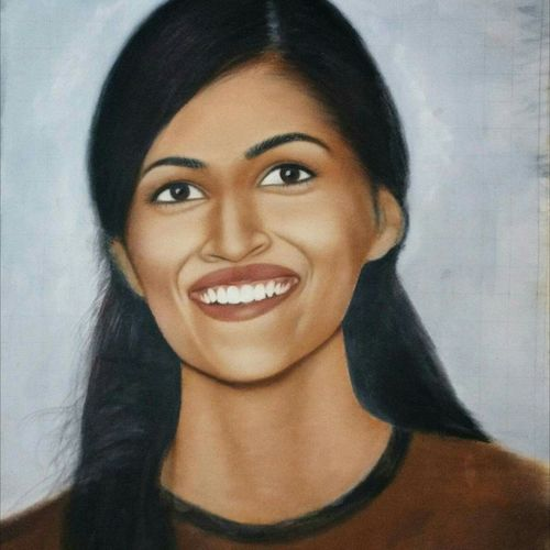 kriti-actress, 20 x 25 inch, abhishek singh,portrait paintings,paintings for living room,canvas,oil,20x25inch,GAL09252553