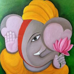ganesha, 16 x 20 inch, nikita hemchand,16x20inch,canvas,religious paintings,dada paintings,ganesha paintings,paintings for dining room,paintings for living room,paintings for bedroom,paintings for office,paintings for hotel,paintings for school,paintings for hospital,paintings for dining room,paintings for living room,paintings for bedroom,paintings for office,paintings for hotel,paintings for school,paintings for hospital,oil color,GAL01146325551,ganpati bappa morya,ganesh chaturthi,ganesh murti,elephant god,religious,lord ganesh,ganesha,om,hindu god,shiv parvati, putra,bhakti,blessings,aashirwad,pooja,puja,aarti,ekdant,vakratunda,lambodara,bhalchandra,gajanan,vinayak,prathamesh,vignesh,heramba,siddhivinayak,mahaganpati,omkar,mushak,mouse,ladoo,modak,shlok