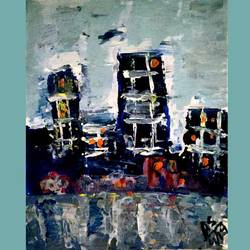 abstract cityscape, 10 x 14 inch, aarushi singhal,10x14inch,canvas,paintings,abstract paintings,acrylic color,GAL01486025552