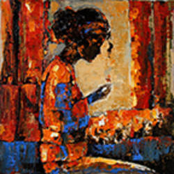 hostel life- myself, 18 x 18 inch, gurdish pannu,18x18inch,canvas,paintings,abstract paintings,figurative paintings,modern art paintings,conceptual paintings,still life paintings,portrait paintings,expressionism paintings,impressionist paintings,realism paintings,contemporary paintings,paintings for dining room,paintings for living room,paintings for office,paintings for hotel,acrylic color,GAL0253725604