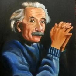 albert einstein, 18 x 24 inch, surajit  mondal464,18x24inch,canvas,paintings,portrait paintings,paintings for dining room,paintings for living room,paintings for bedroom,paintings for office,paintings for kids room,paintings for hotel,paintings for school,oil color,GAL01429425610