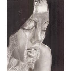 free flowing souls, 12 x 17 inch, anushka jain,12x17inch,canson paper,paintings,figurative paintings,paintings for living room,paintings for bedroom,paintings for hotel,charcoal,GAL01496425615