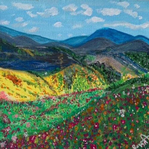 valley of flowers , 6 x 6 inch, gayathiri  guliani,6x6inch,canvas,nature paintings,paintings for dining room,paintings for living room,paintings for bedroom,paintings for office,paintings for bathroom,paintings for hotel,paintings for school,paintings for dining room,paintings for living room,paintings for bedroom,paintings for office,paintings for bathroom,paintings for hotel,paintings for school,acrylic color,GAL01450225644