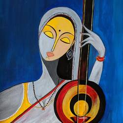 passion for music , 17 x 12 inch, promila singh,17x12inch,thick paper,paintings,figurative paintings,paintings for school,acrylic color,GAL0823225658