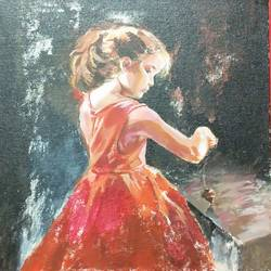 childhood, 12 x 12 inch, venkatesh krishna,12x12inch,canvas,paintings,kids paintings,paintings for living room,paintings for bedroom,paintings for kids room,oil color,GAL01336525663