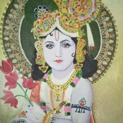 lord krishna, 21 x 28 inch, apeksha agrawal,21x28inch,oil sheet,figurative paintings,paintings for dining room,paintings for living room,paintings for office,paintings for kids room,paintings for hospital,paintings for dining room,paintings for living room,paintings for office,paintings for kids room,paintings for hospital,oil color,GAL01501125677