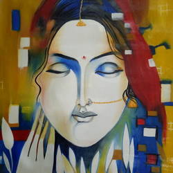 silent women, 16 x 22 inch, apeksha agrawal,16x22inch,oil sheet,paintings,figurative paintings,paintings for dining room,paintings for living room,paintings for bedroom,oil color,GAL01501125683