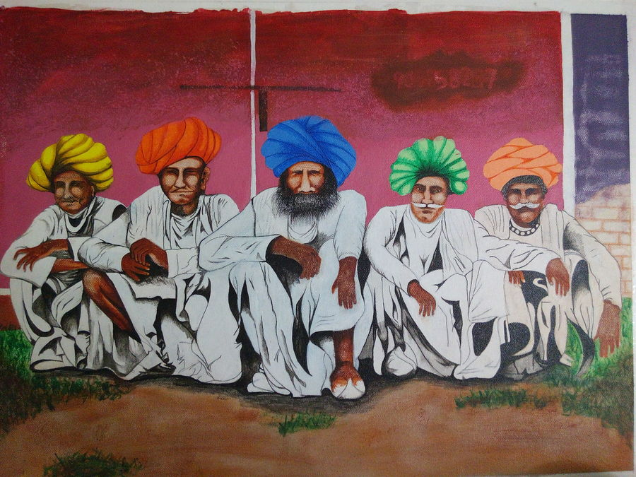 leaders, 24 x 18 inch, prashant apte,modern art paintings,paintings for office,figurative paintings,canvas board,fabric,24x18inch,GAL010272570