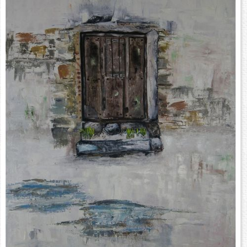 series of gates , 30 x 40 inch, shikha gupta,30x40inch,canvas,paintings,landscape paintings,contemporary paintings,paintings for dining room,paintings for living room,paintings for bedroom,paintings for office,paintings for hotel,paintings for school,paintings for hospital,oil color,GAL0573825720