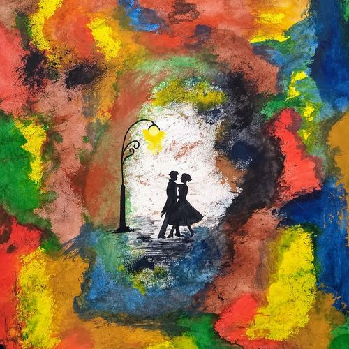 dance, 11 x 16 inch, komal meena,11x16inch,thick paper,paintings,abstract paintings,figurative paintings,conceptual paintings,abstract expressionism paintings,art deco paintings,expressionism paintings,love paintings,paintings for living room,paintings for bedroom,paintings for bathroom,paintings for hotel,poster color,GAL01440625728