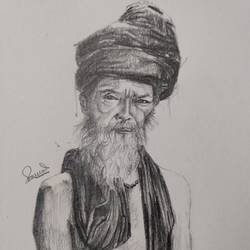 sage, 6 x 8 inch, samudra sarma,6x8inch,paper,paintings for dining room,paintings for living room,paintings for bedroom,figurative drawings,portrait drawings,paintings for dining room,paintings for living room,paintings for bedroom,graphite pencil,paper,GAL01479425740