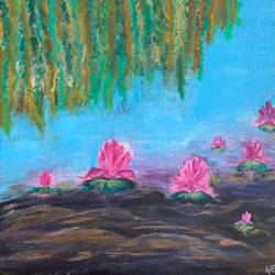 lotus pond , 12 x 12 inch, gayathiri  guliani,12x12inch,canvas,flower paintings,paintings for dining room,paintings for living room,paintings for bedroom,paintings for office,paintings for bathroom,paintings for kids room,paintings for hotel,paintings for kitchen,paintings for school,paintings for hospital,paintings for dining room,paintings for living room,paintings for bedroom,paintings for office,paintings for bathroom,paintings for kids room,paintings for hotel,paintings for kitchen,paintings for school,paintings for hospital,acrylic color,GAL01450225745