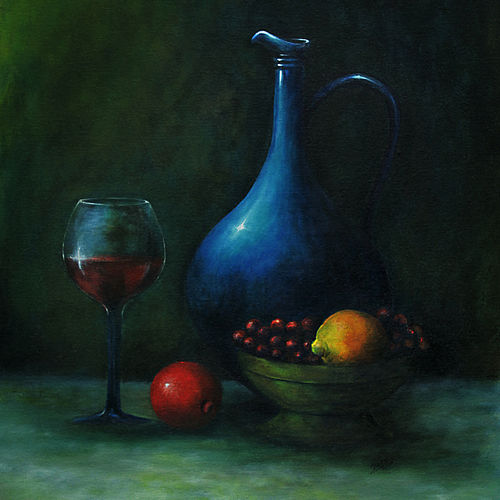 wine and water, 18 x 30 inch, seby augustine,18x30inch,canvas,paintings,still life paintings,realism paintings,contemporary paintings,paintings for dining room,paintings for living room,paintings for hotel,paintings for kitchen,acrylic color,GAL015025758