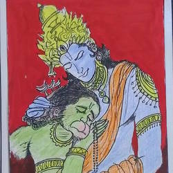 religious, 9 x 12 inch, s.vittal rao                                                                                                                                                             rao,9x12inch,thick paper,religious paintings,mixed media,GAL01440925767