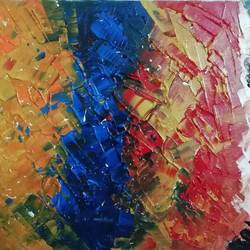 abstract painting with bright colours, 12 x 16 inch, deepjyoti behuria,12x16inch,canvas,paintings,abstract paintings,paintings for living room,acrylic color,GAL01507225769