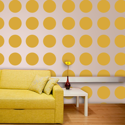 wall stencil: trendy polka dots wall design stencils,1 stencils (size 20mm. ) | reusable | diy, 12 x 12 inch, wall stencil designs,12x12inch,ohp plastic sheets,classical stencils designs,plastic,Gal20mm