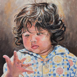 cute baby, 14 x 18 inch, debojyoti boruah,14x18inch,canvas board,paintings,figurative paintings,portrait paintings,photorealism paintings,photorealism,portraiture,realism paintings,realistic paintings,baby paintings,paintings for dining room,paintings for living room,paintings for bedroom,paintings for office,paintings for bathroom,paintings for kids room,paintings for hotel,paintings for kitchen,paintings for school,paintings for hospital,acrylic color,GAL01261425778