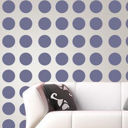 wall stencil: glossy polka dots wall design stencils,1 stencils (size 18mm. ) | reusable | diy, 12 x 12 inch, wall stencil designs,12x12inch,ohp plastic sheets,classical stencils designs,plastic,GAL18MM
