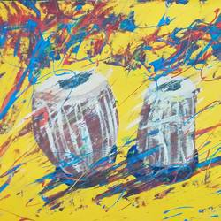 tabla swag, 24 x 18 inch, v s gaurav narayan,24x18inch,canvas,paintings,abstract paintings,still life paintings,abstract expressionism paintings,street art,paintings for dining room,paintings for living room,paintings for bedroom,paintings for office,paintings for bathroom,paintings for kids room,paintings for hotel,paintings for kitchen,paintings for school,paintings for hospital,acrylic color,GAL01045425790