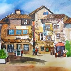 la casa, 24 x 18 inch, v s gaurav narayan,24x18inch,canvas board,paintings,abstract paintings,cityscape paintings,paintings for dining room,paintings for living room,paintings for bedroom,paintings for office,paintings for bathroom,paintings for kids room,paintings for hotel,paintings for kitchen,paintings for school,paintings for hospital,acrylic color,GAL01045425793