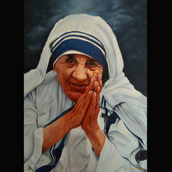 mother teresa, 22 x 32 inch, ratheesan veniyil,22x32inch,canvas,paintings,paintings for dining room,paintings for living room,paintings for bedroom,paintings for office,paintings for hotel,paintings for school,paintings for hospital,oil color,GAL0930925795