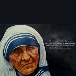 mother teresa, 23 x 34 inch, ratheesan veniyil,23x34inch,canvas,paintings,paintings for living room,paintings for bedroom,paintings for office,paintings for kids room,paintings for hotel,paintings for school,paintings for hospital,oil color,GAL0930925807