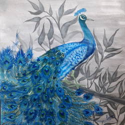 peacock painting, 8 x 12 inch, reshma  ramachandran,8x12inch,thick paper,paintings,portrait paintings,nature paintings,paintings for dining room,paintings for living room,paintings for bedroom,acrylic color,GAL01211925818