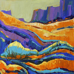 grand canyon- 8, 18 x 18 inch, gurdish pannu,18x18inch,canvas,paintings,abstract paintings,paintings for dining room,paintings for living room,paintings for office,acrylic color,GAL0253725822