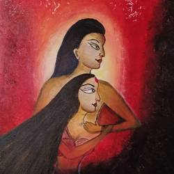 assurance, 14 x 18 inch, smitha g krishnan,14x18inch,canvas,paintings,abstract paintings,figurative paintings,folk art paintings,modern art paintings,conceptual paintings,religious paintings,expressionism paintings,contemporary paintings,love paintings,paintings for dining room,paintings for living room,paintings for bedroom,paintings for office,paintings for bathroom,paintings for hotel,paintings for kitchen,paintings for hospital,acrylic color,GAL01502425849