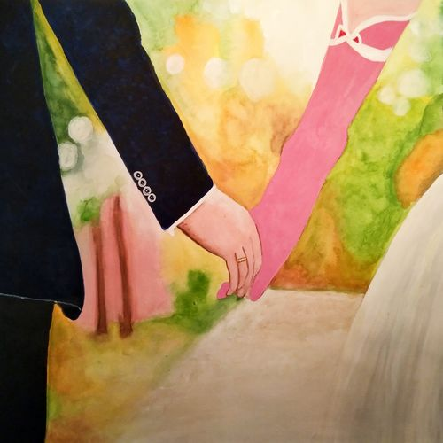 eternal love, 12 x 17 inch, aarti jadli,12x17inch,canson paper,love paintings,paintings for living room,paintings for bedroom,paintings for hotel,paintings for living room,paintings for bedroom,paintings for hotel,watercolor,paper,GAL01247425851