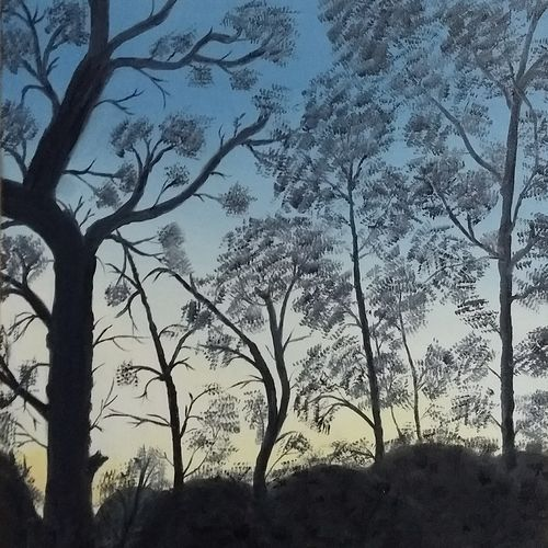 woods at mussoorie, 16 x 20 inch, urvashi verma,16x20inch,canvas,landscape paintings,nature paintings,paintings for dining room,paintings for living room,paintings for bedroom,paintings for dining room,paintings for living room,paintings for bedroom,oil color,GAL01503925865