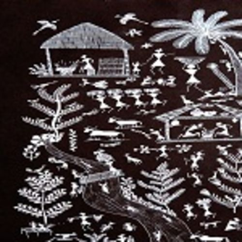 ancient   warli arts  on handmade paper, 11 x 15 inch, harpreet kaur punn,11x15inch,handmade paper,paintings,figurative paintings,conceptual paintings,warli paintings,paintings for dining room,paintings for living room,paintings for office,paintings for hotel,acrylic color,paper,GAL0599725895