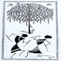 ancient   warli arts  on handmade paper, 9 x 15 inch, harpreet kaur punn,9x15inch,handmade paper,paintings,figurative paintings,conceptual paintings,warli paintings,paintings for living room,paintings for bedroom,paintings for office,paintings for hotel,acrylic color,paper,GAL0599725897
