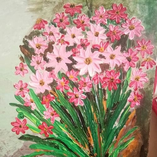 flowers, 14 x 18 inch, dr basavaraj  bommanahalli ,14x18inch,canvas,abstract paintings,acrylic color,GAL01352625901