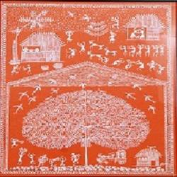 ancient   warli arts holy tree on handmade paper, 11 x 15 inch, harpreet kaur punn,11x15inch,handmade paper,paintings,figurative paintings,warli paintings,paintings for dining room,paintings for living room,paintings for bedroom,paintings for office,paintings for hotel,paintings for dining room,paintings for living room,paintings for bedroom,paintings for office,paintings for hotel,acrylic color,paper,GAL0599725919