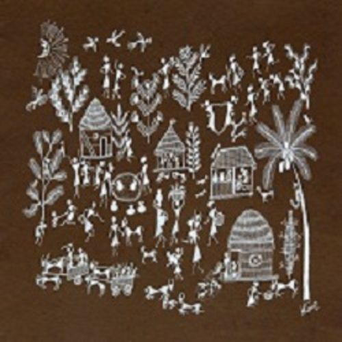 ancient   warli arts  on handmade paper, 15 x 11 inch, harpreet kaur punn,15x11inch,handmade paper,paintings,figurative paintings,conceptual paintings,warli paintings,paintings for dining room,paintings for living room,paintings for office,paintings for hotel,paintings for school,acrylic color,paper,GAL0599725922