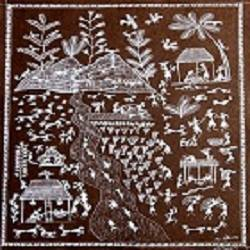 ancient   warli arts  on handmade paper, 22 x 14 inch, harpreet kaur punn,22x14inch,handmade paper,paintings,figurative paintings,conceptual paintings,warli paintings,paintings for dining room,paintings for living room,paintings for office,paintings for hotel,paintings for school,acrylic color,paper,GAL0599725924