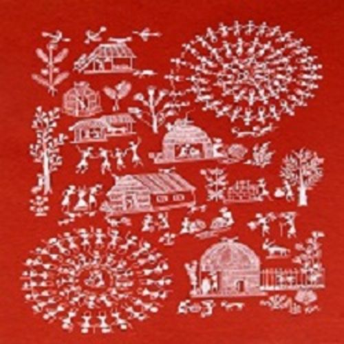 ancient   warli arts  on handmade paper, 11 x 15 inch, harpreet kaur punn,11x15inch,handmade paper,paintings,figurative paintings,modern art paintings,conceptual paintings,warli paintings,paintings for dining room,paintings for living room,paintings for bedroom,paintings for office,paintings for hotel,acrylic color,paper,GAL0599725925
