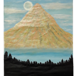 morning mountain in the horizon, 8 x 12 inch, reshma  ramachandran,8x12inch,thick paper,paintings,portrait paintings,nature paintings,paintings for dining room,paintings for living room,paintings for bedroom,acrylic color,GAL01211925927