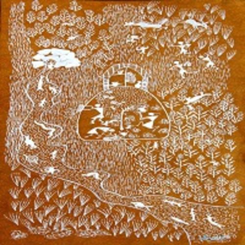 ancient   warli arts  on handmade paper, 6 x 12 inch, harpreet kaur punn,6x12inch,handmade paper,paintings,figurative paintings,modern art paintings,conceptual paintings,warli paintings,paintings for dining room,paintings for living room,paintings for bedroom,paintings for office,paintings for hotel,acrylic color,paper,GAL0599725939