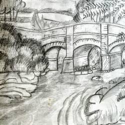 landscape sketch, 11 x 14 inch, niharika pansari,11x14inch,thick paper,drawings,abstract drawings,art deco drawings,conceptual drawings,illustration drawings,realism drawings,surrealism drawings,paintings for living room,graphite pencil,GAL01511725948