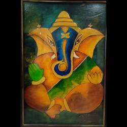 lord ganesha, 17 x 24 inch, rakhi gupta,17x24inch,wood board,paintings,figurative paintings,religious paintings,portrait paintings,art deco paintings,ganesha paintings,paintings for dining room,paintings for office,paintings for hotel,ceramic,fabric,wood,GAL01524025969,ganpati bappa morya,ganesh chaturthi,ganesh murti,elephant god,religious,lord ganesh,ganesha,om,hindu god,shiv parvati, putra,bhakti,blessings,aashirwad,pooja,puja,aarti,ekdant,vakratunda,lambodara,bhalchandra,gajanan,vinayak,prathamesh,vignesh,heramba,siddhivinayak,mahaganpati,omkar,mushak,mouse,ladoo,modak,shlok