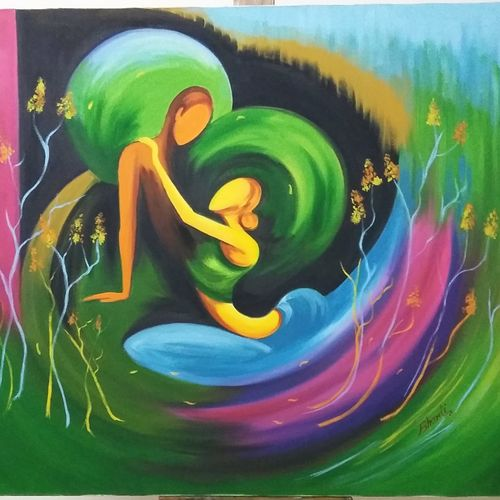 love of life, 30 x 36 inch, bharti indorkar,30x36inch,canvas,paintings,figurative paintings,paintings for dining room,paintings for living room,paintings for bedroom,paintings for office,paintings for bathroom,paintings for hotel,paintings for hospital,acrylic color,oil color,GAL01462525973