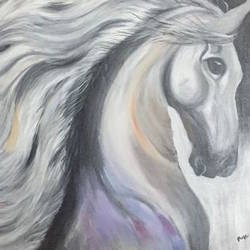 running horse, 36 x 24 inch, puja puja,36x24inch,canvas,animal paintings,acrylic color,GAL01525725994