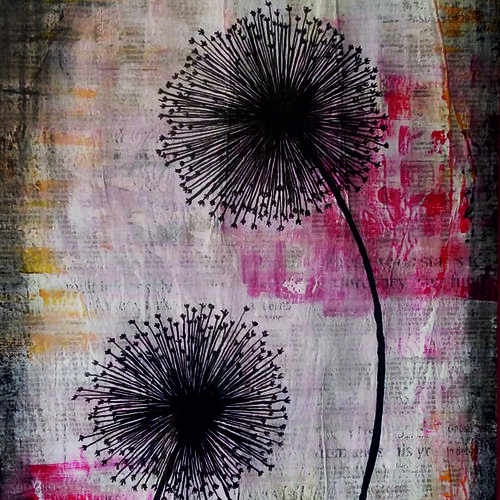 embracing hope - dandelion, 18 x 25 inch, neha chhabria,18x25inch,canvas,paintings,flower paintings,modern art paintings,multi piece paintings,paintings for dining room,paintings for living room,paintings for bedroom,paintings for office,paintings for bathroom,paintings for hotel,paintings for kitchen,paintings for hospital,mixed media,GAL0341825998