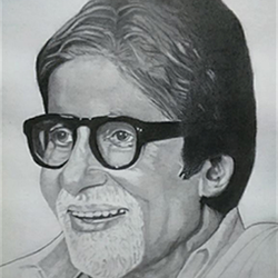 amitabh bachchan, 11 x 15 inch, shivkumar  menon,paintings for living room,figurative drawings,drawings,drawing paper,graphite pencil,11x15inch,GAL09862602